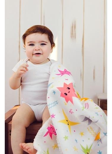 Hamur Fluffy Bebek Battaniyesi 80x100 cm Colorful Koyun Tüyü Battaniye Renkli